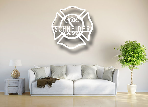 Firehouse Cross Wall Art