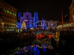 Christmas lights in Ljubljana
