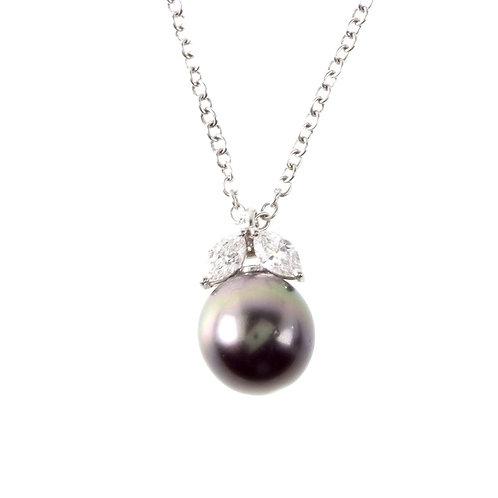 Ciondolo con perla Tahiti e diamanti