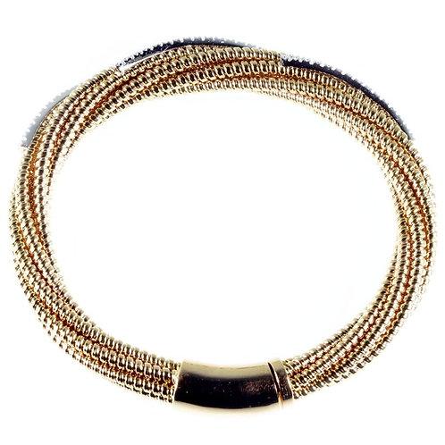 Bracciale morbido in oro e diamanti