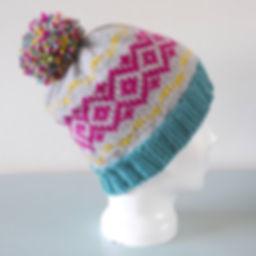 Modern Fair Isle Beanie Hat