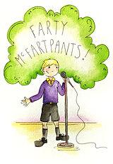 Farty Mcfartpants on stage