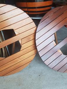 Barrel top Tables