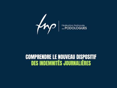 HISTORIQUE : nouveau dispositif des indemnités journalières pour les pédicures-podologues