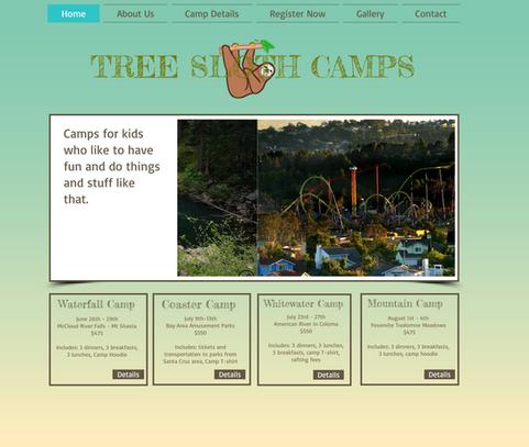 Tree Sloth Camps