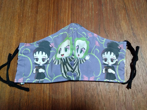 Shaped Beetlejuice Mask (smaller women's/teen size - only 1 left!)