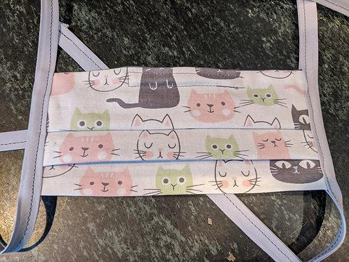 Pleated Moody Kitties Mask