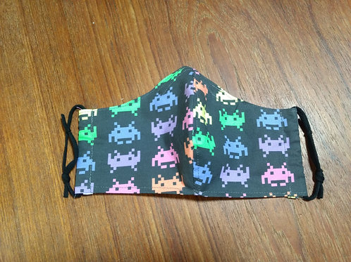 Shaped Space Invaders Mask (child (7-12) size - only 1 left!)