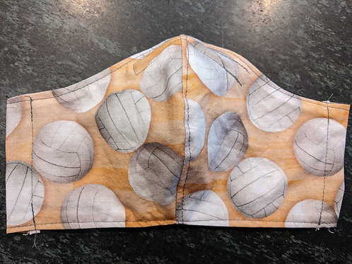 Shaped Volleyball Gym Floor Mask