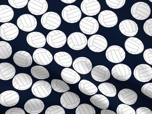 Pleated Dark Background Volleyball Mask