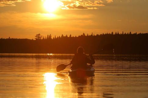 Coucher de soleil en kayak