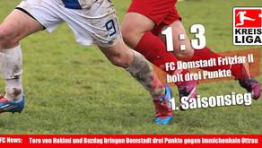 FC Domstadt Fritzlar II holt drei Punkte
