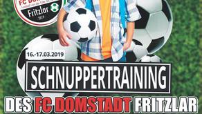 FC Domstadt lädt zum Jugend-Schnuppertraining ein!