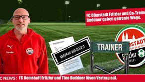FC Domstadt Fritzlar und Co-Trainer Buddner  lösen Vertrag auf