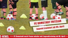 FC Domstadt nimmt Jugendtraining ab 6. April wieder  auf!