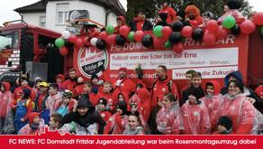 FC Domstadt Jugend war bei Rosenmontagsumzug dabei.