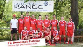 FC Domstadt Fritzlar II wird Stadtmeister der Reserveteams