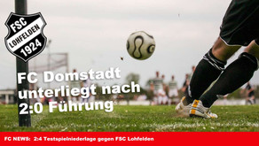Domstadt unterliegt nach 2:0 Führung im Testspiel