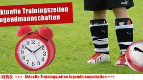 Aktuelle Trainingszeiten der FC Domstadt Jugendteams