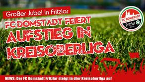 FC Domstadt Fritzlar steigt in Kreisoberliga auf! Riesenfreude in Fritzlar.