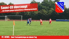 FC Domstadt überzeugt in Testspielen gegen FSG Gudensberg und SV Niedergrenzebach