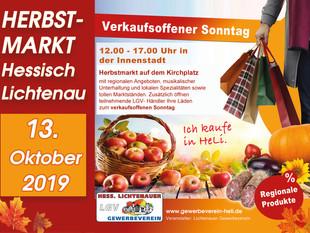 Herbstmarkt 2019 am 13. Oktober