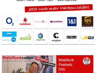 Markenvielfalt im Mobilfunkcenter Hessisch Lichtenau