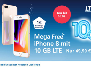 O2 Free M mit iPhone 8