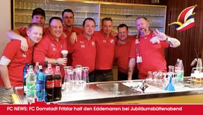 FC Domstadt Fritzlar unterstützte Eddernarren bei Jubiläumsbüttenabend