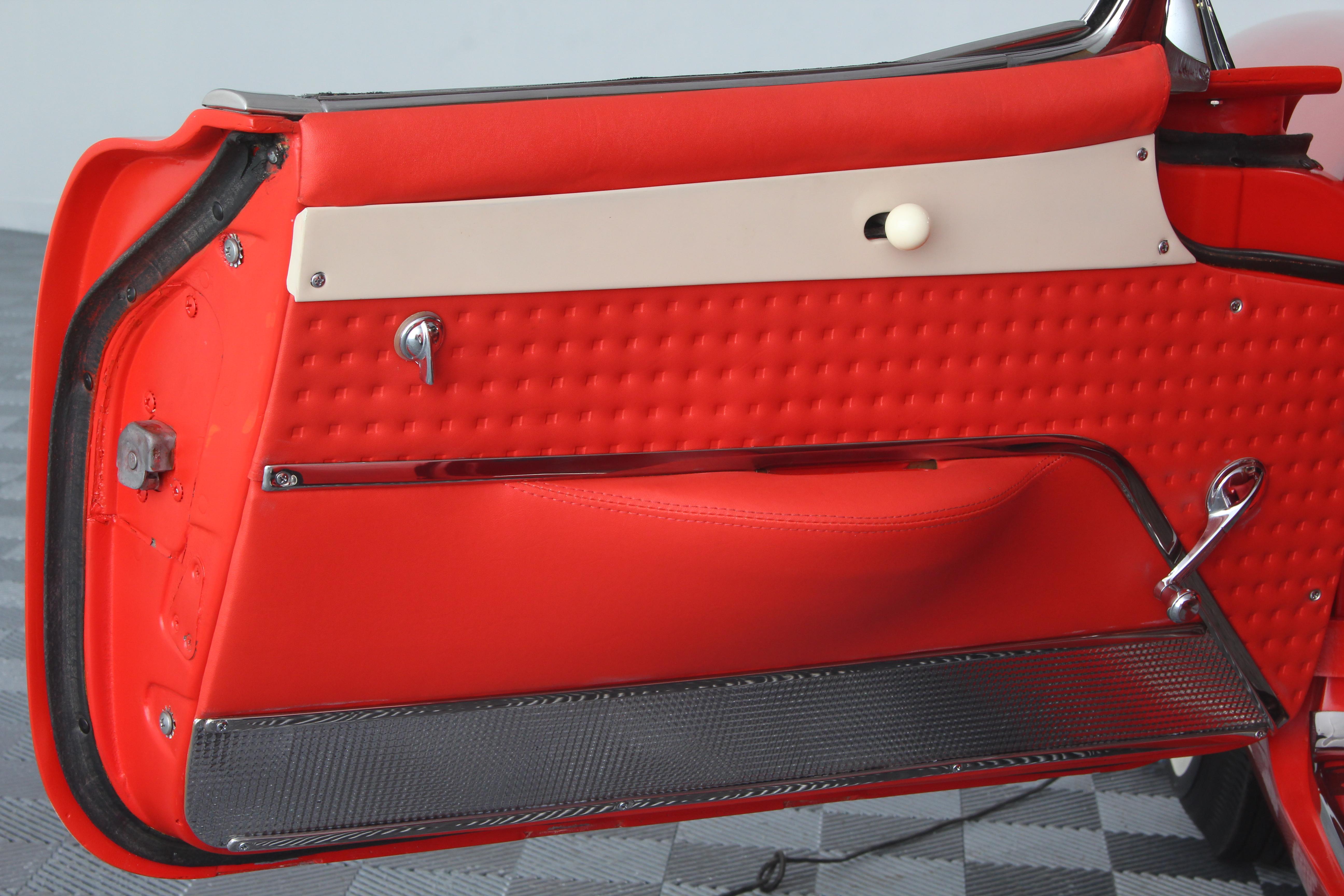 1957 Chevrolet Corvette Elyria Ohio Vin Tag G0017 57 Red Vette 25