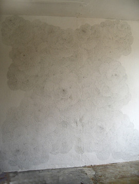 wall drawing in pencil