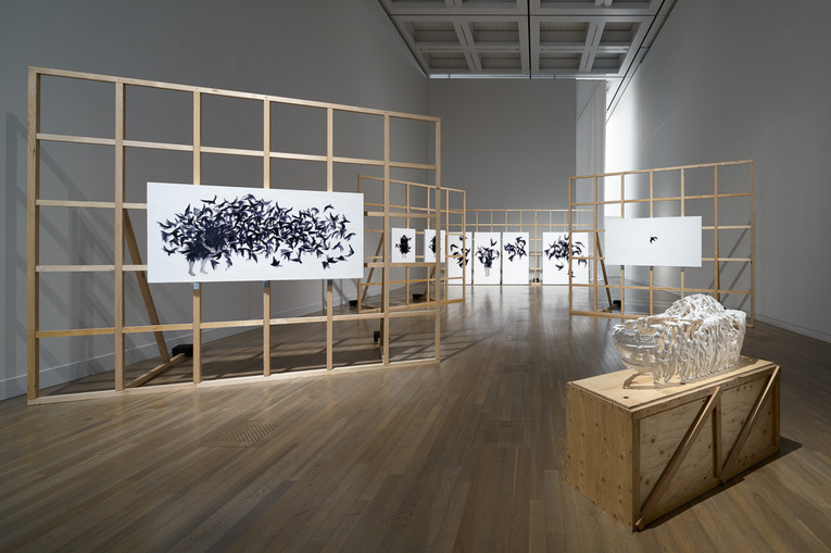 Installation view Group show '20th DOMANI: The Art of Tomorrow' Exhibition at The National Art Center in Tokyo  2018 Photo: Hayato Wakabayashi