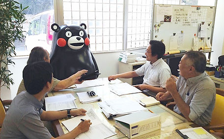 A surprise visitor at Tokyo Landscape Architects