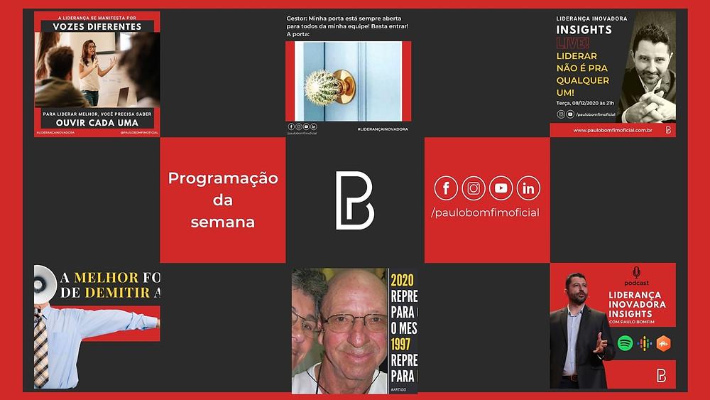 Paulo Bomfim Oficial Programação da semana 07/12/2020 a 13/12/2020