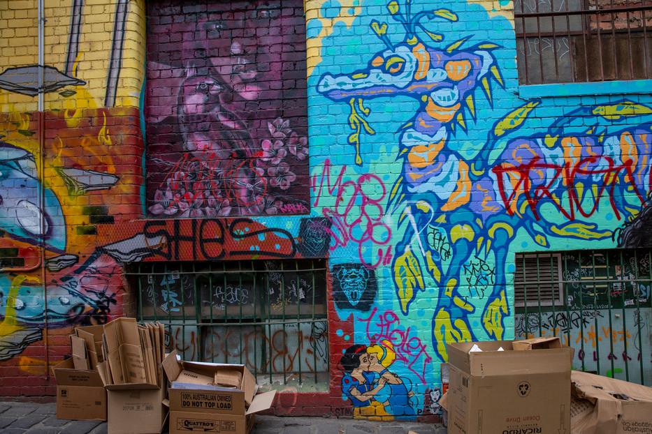 The Kiss, Snow White and Cindarella, Melbourne, Australia