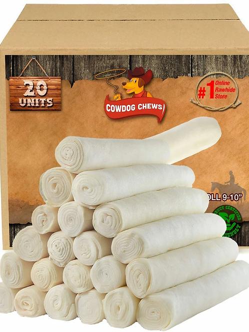 Cowdog Chews Retriever Roll 9-10 Inch All Natural Rawhide Product