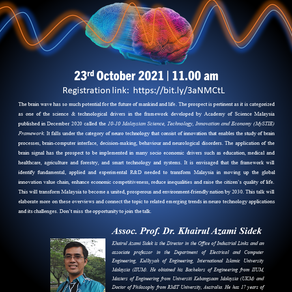Webinar on Brain Wave Technology : Emerging Trends and Challenges