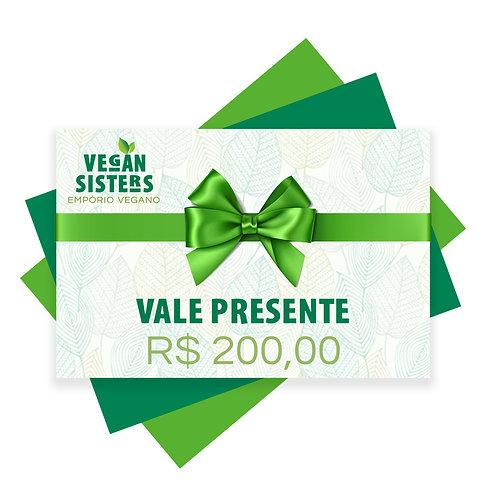 Vale Presente - R$ 200,00