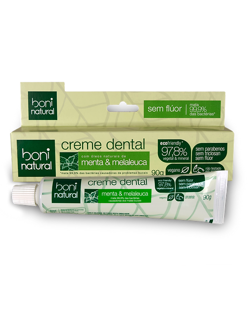 Creme Dental Menta e Melaleuca - Boni Natural