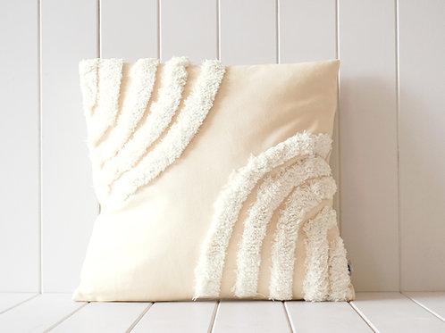 Tuffed Natural Rainbow Cushion