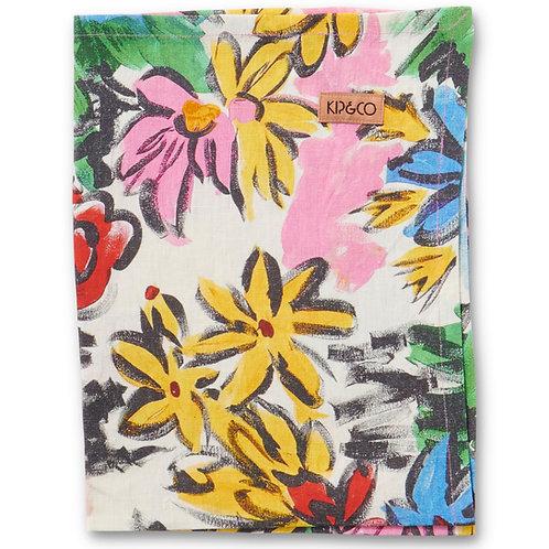 Rio Floral Linen Tea Towel