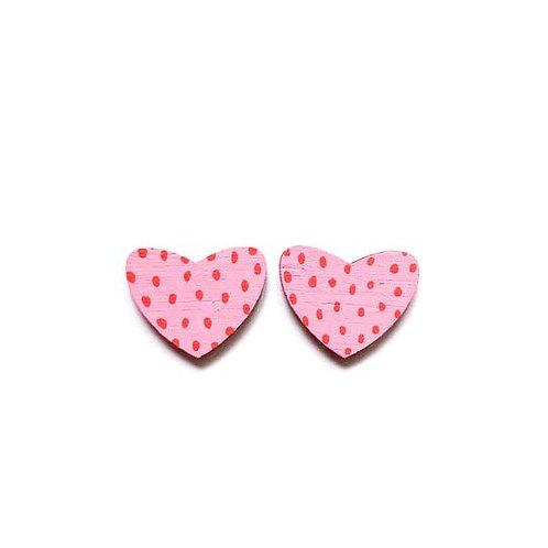 Heart Studs Pink