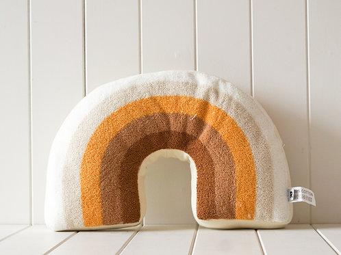 Rust and White Rainbow Cushion