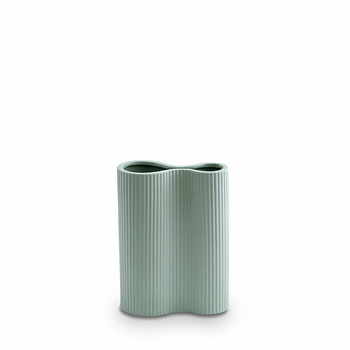 Ribbed Infinity Vase Blue Small
