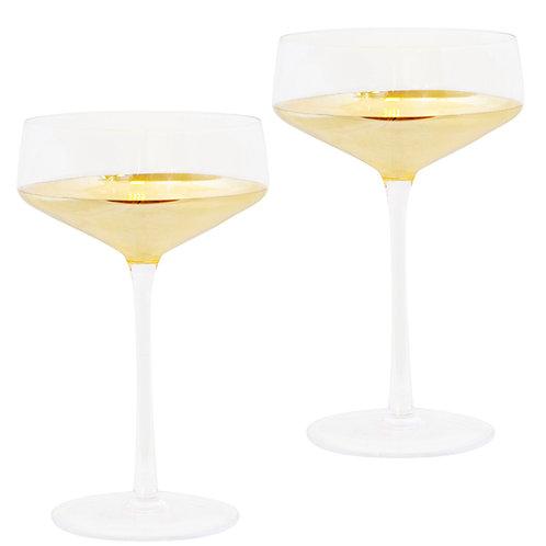Coupe Estelle Gold Set of 2