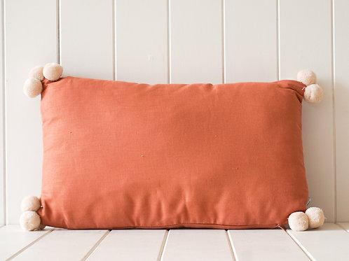 Linen Pompom Cushion