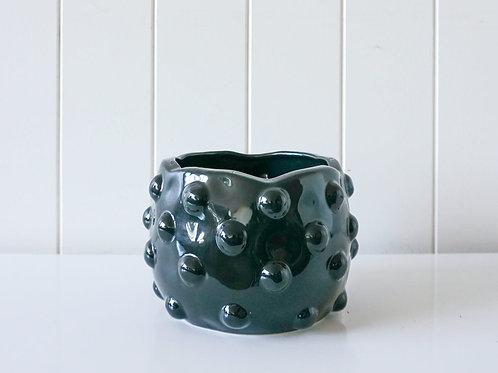 Pot/Planter - Bubble -  Black