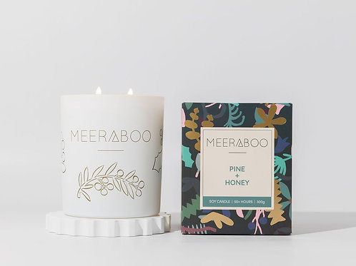 Pine + Honey Boxed Soy Candle