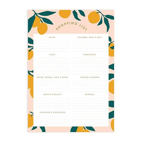 Lemons A5 Shopping List Magnet
