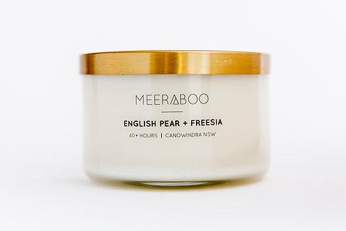 English Pear and  Freesia - Large Candle
